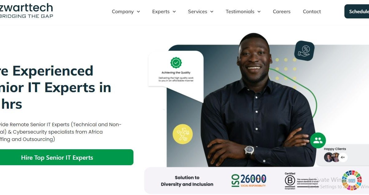 Zwarttech Launches New Website To Optimise Hiring Experience
